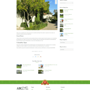 Web Design Portfolio ABC Scapes