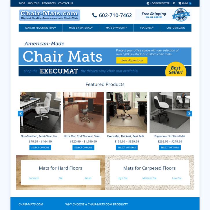 Web Design Portfolio Chair-Mats.com
