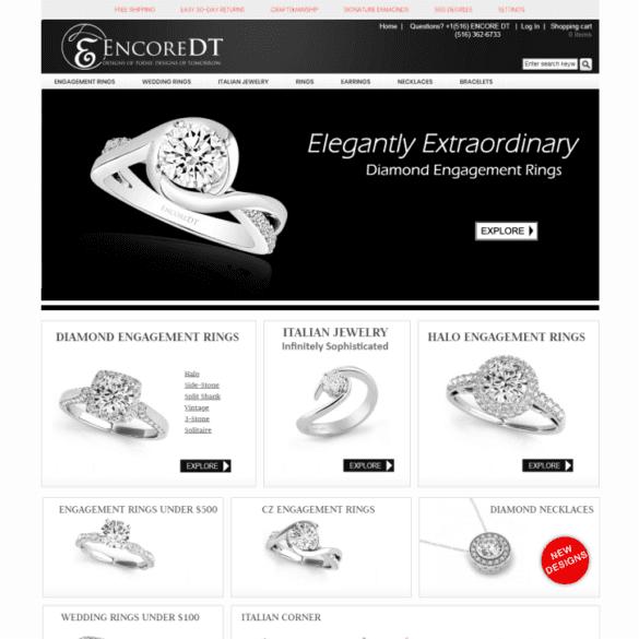 Web Design Portfolio Encore DT