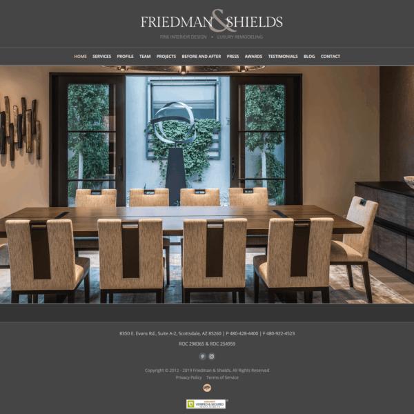Web Design Portfolio Friedman and Shields
