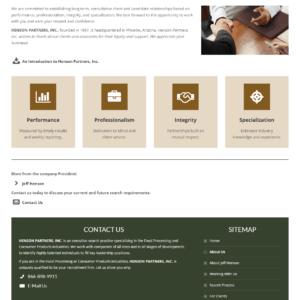 Web Design Portfolio Henson Partners
