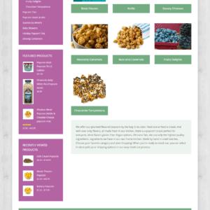 Web Design Portfolio My Popcorn Kitchen