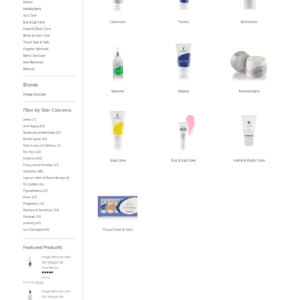 Web Design Portfolio Skincare Factory