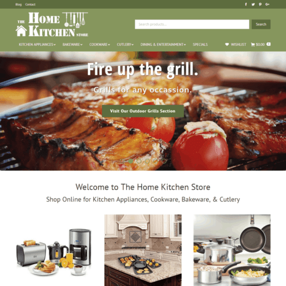 Web Design Portfolio The Home Kitchen Store