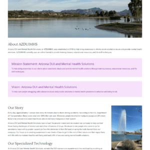 Web Design Portfolio Arizona DUI and Mental Health Solutions