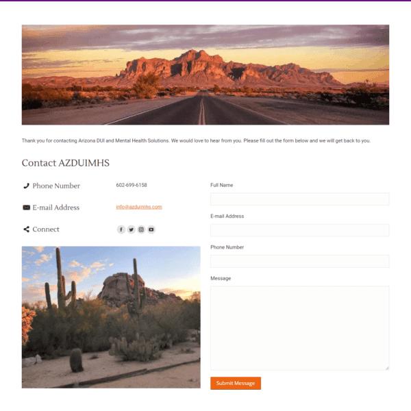 Web Design Portfolio Arizona DUI and Mental Health Solutions