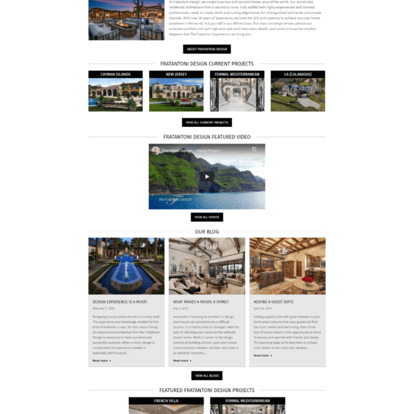 Web Design Portfolio Fratantoni Design