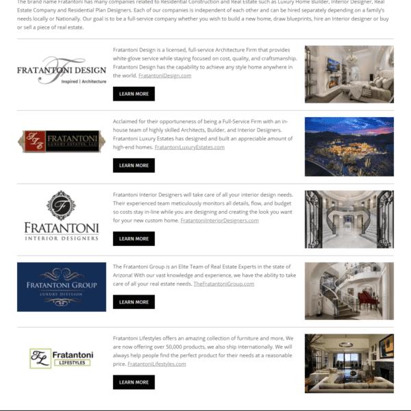 Web Design Portfolio Fratantoni Interior Designers