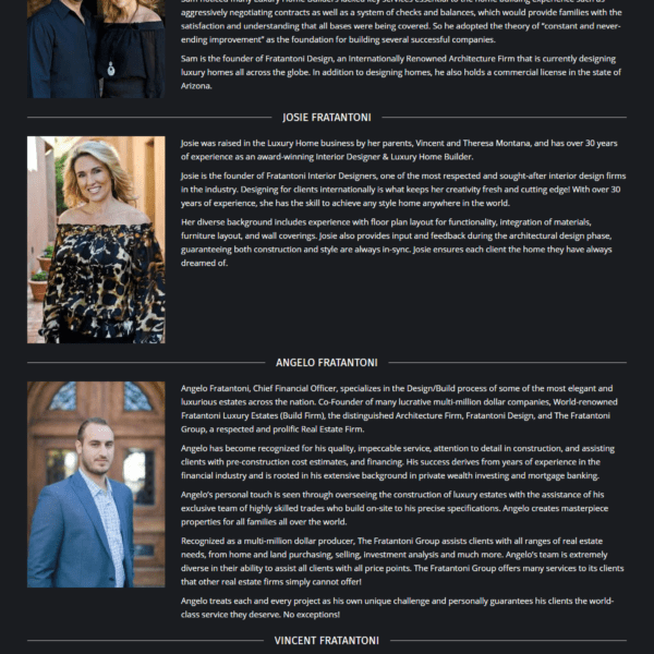 Web Design Portfolio Fratantoni Luxury Estates