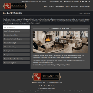 Web Design Portfolio Fratantoni Luxury Estates