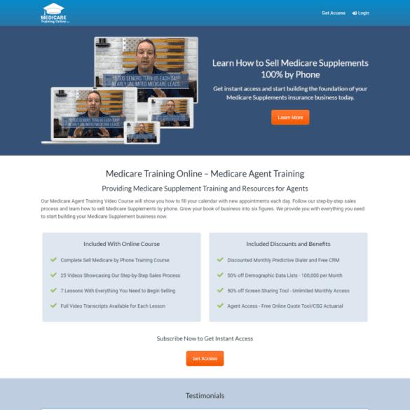 Web Design Portfolio MedicareTrainingOnline.com