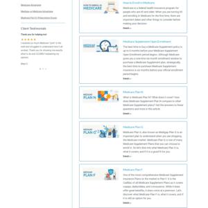 Web Design Portfolio MedicareInc.com