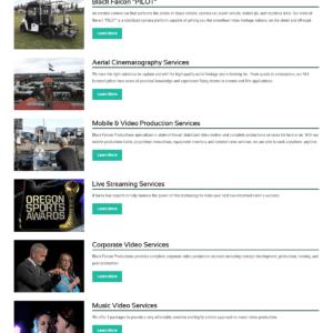 Web Design Portfolio Black Falcon Productions