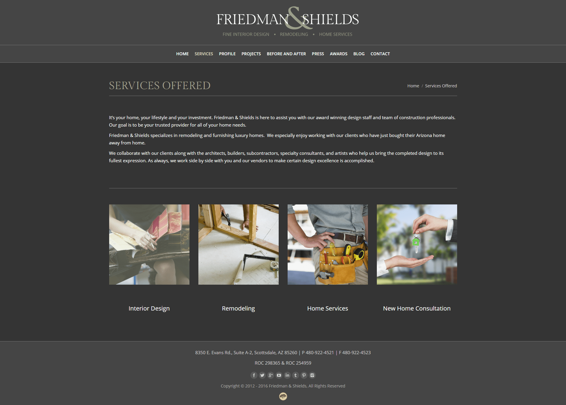 Web Design Portfolio Friedman And Shields