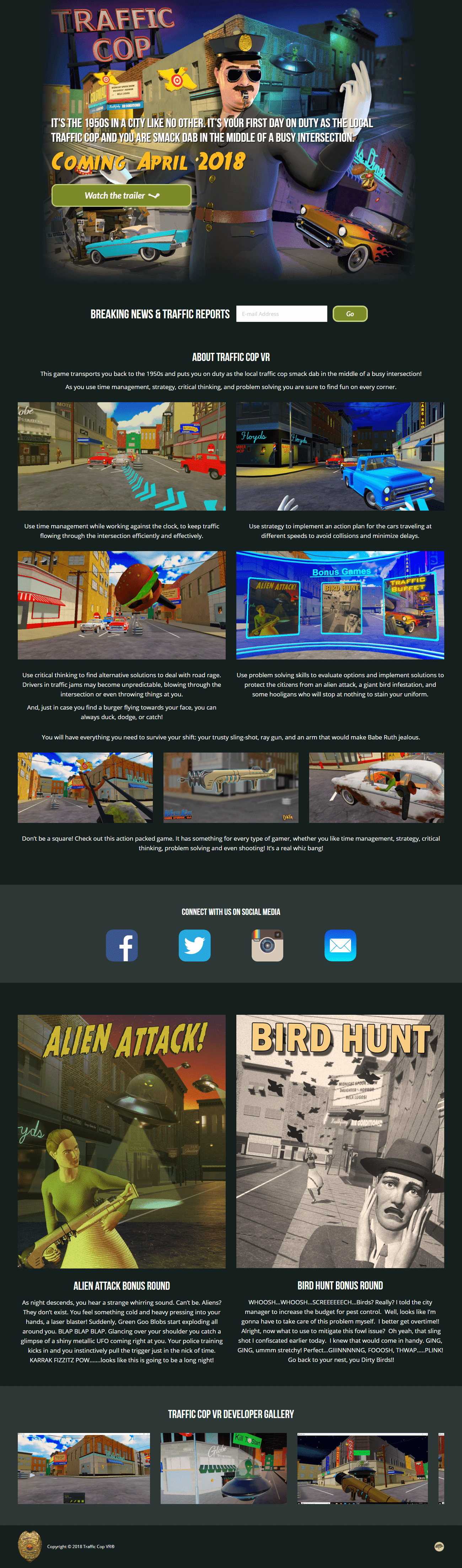Web Design Portfolio Traffic Cop VR