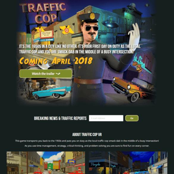 Web Design Portfolio Traffic Cop VR