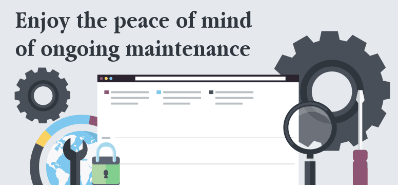 Enjoy the peace of mind of ongoing WordPress maintenance