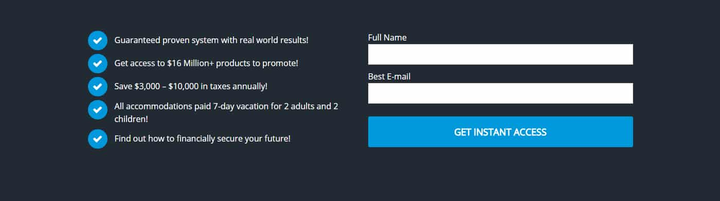 Sales Funnel Form Example 3