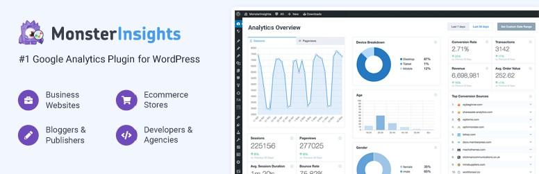 The Top 10 Essential WordPress Plugins - Google Analytics Dashboard Plugin for WordPress by MonsterInsights
